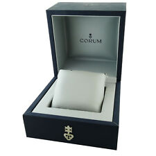 CORUM SMALL BLUE WATCH BOX WITH SATIN GREY INTERIOR