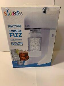 Soda Boss Twist & Fizz Soda Making Machine White 9401FE NEW IN BOX!!