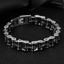 AgentX Mens Stylish Wristband Stainless Steel Wrist Army Jewelry Bracelet+bag