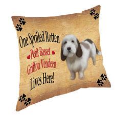 Petit Basset Griffon Vendeen Spoiled Rotten Dog Throw Pillow 14x14