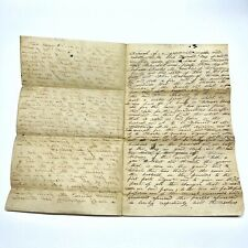 Antique Legal Document From Northeast United States - Early-Mid 1800's - C