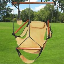 250Lbs Swing Chair Hammock Patio Outdoor Furniture Hanging Garden Seat Brown