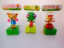 Lots 3 Solar-Powered Connectable Dancing Trees  Chipmunk  Bear with Flowers