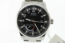 NWT Men's Mido Multifort M0054241105202 Automatic Black Dial St. Steel Watch