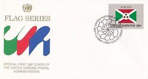 UN12) United Nations 1984 Burundi 20c Stamp - Flag Series FDC. Price: $4.00