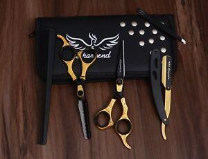 "6.5"" Professional Hair Cutting Japanese Scissors Thinning Barber Shears Set Kit"