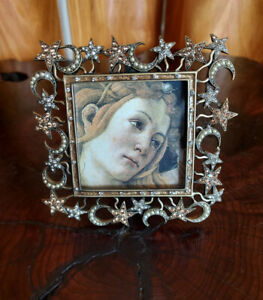 Jay Strongwater Stars & Moons Picture Frame Pearls & Crystals