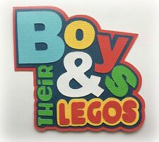Boys And Their Legos Title Paper Piecing 3D Die Cut By Mytb Kira Premade