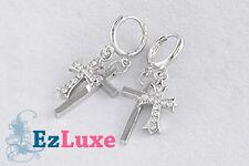 Korean K-POP Tohoshinki TVXQ DBSK Double Cross Earrings 2 two layers crosses EXO
