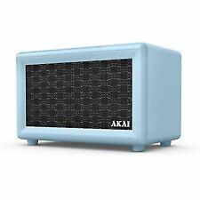 Akai A58052bl Retro Bluetooth Speaker With Built-in Rechargeable Battery - Blue