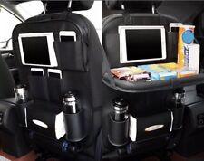 Car Seat Back Organizer Storage Bag Shelf iPad Phone Holder Multi-Pocket Leather