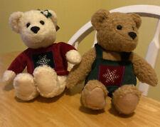 "KISS KISS Mistletoe Bears ( 2 ) Hallmark Bears 9""."