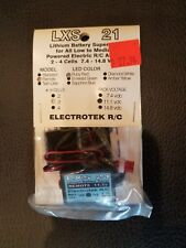 ELECTROTEK R/C LXS 21 LITHIUM BATTERY SAVER NEW IN PACKAGE LED RUBY RED