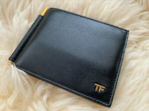 Tom Ford Men's Hammered Leather Wallet w/ Money Clip, Mkt Price $520