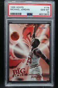 1996 Hoops The Big Finish 176 Michael Jordan PSA 10 Chicago Bulls