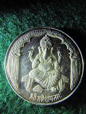 HINDU GANESH INDIA .999 FINE SILVER ROUND BULLION 20 GRAMS RARE!