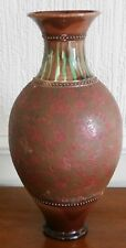 Burmantofts Faience Large Brown Vase