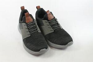 Size 11 USED Skechers Men's Black Gray Delson Slip On Shoe Loafer Memory Foam ~