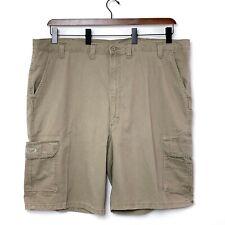 Wrangler Mens Light Brown Cargo Shorts 7 Pocket Logo Size 48