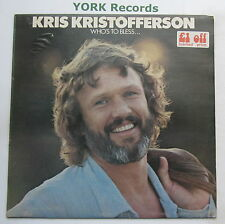 KRIS KRISTOFFERSON - Who's To Bless & Who's To Blame - Ex Con LP Record Monument