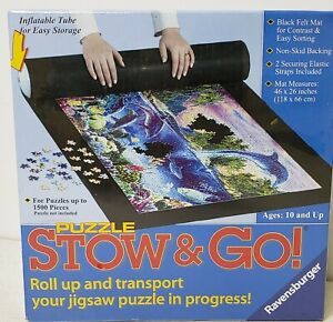 """Stow and Go Roll Up Mat & Transport up to 1500 pc or 46"""" x 26"""" NIB Sealed"""