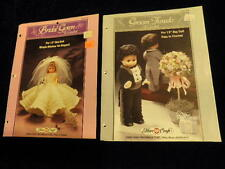 "Bride + Groom To Crochet Pattern Leaflet for 13"" Bed Doll Bridal Gown Tuxedo R78"
