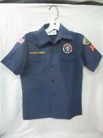 Official BOY SCOUTS OF AMERICA Youth Medium Blue Cub Scout BSA Uniform Shirt (AD
