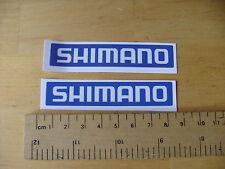 Shimano BICI/MTB Decalcomanie Autoadesivo Blu una coppia (t2) FREEPOST in tutto il mondo