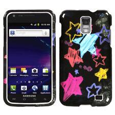 For i727 Galaxy S II Skyrocket Chalkboard Star Black Phone Protector Cover