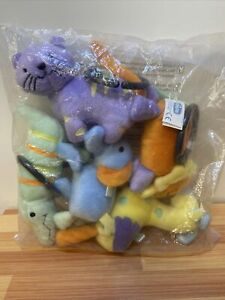 Lot 5 Chicco Lullaby Baby Playard Toys For Play Gym Jungle Animals Stuffed Plush