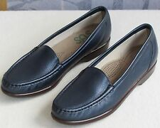 8.5 S | SAS Simplify Women Blue Tripad Comfort Leather Slip-On Flat Loafer Shoe
