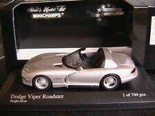 DODGE VIPER CABRIOLET ROADSTER 1993 BRIGHT SILVER MINICHAMPS 430144034 1/43