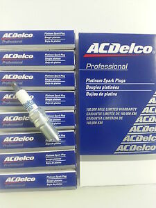 SET OF 8 AC DELCO 41-950 PLATINUM SPARK PLUGS 19244471