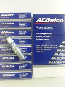 SET OF 8 AC DELCO 41-950 PLATINUM SPARK PLUGS 19244471