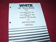 """Oliver White Tractor Yard Boss 48"""" Snow Blade for LGT1110 LGT1610 Parts Book"""