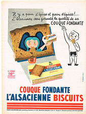 PUBLICITE ADVERTISING  1956   L'ALSACIENNE    pain d'épices couque fondante
