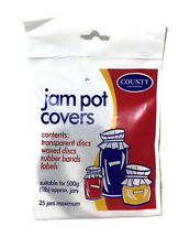 Jam Pot Covers Jar Preserve Chutney Jelly Labels 1lb 25 Jars Cooking Kitchen