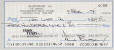 ALAN BEAN Signed Check Autographed Document NASA Apollo 12 Moon Lunar Skylab