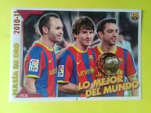 Lionel MESSI,Xavi, Iniesta FC Barcelona 2010-11 PANINI #2 # 3