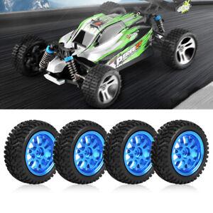 RC Crawler Tires Blue Metal Y-Shaped Rims Wheel WL A959 A979 A969 1/18 Model Car