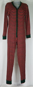 Victoria's Secret Underwear red green thermal one piece pajamas bodysuit Small