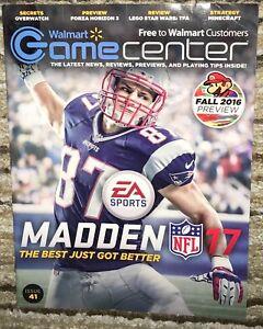 2016 Walmart Game Center Magazine Issue 41 Rob Gronkowski New England Patriots
