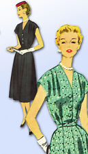 1950s Vintage McCalls Sewing Pattern 3078 Misses Day Dress Size 37 Bust