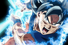 Dragon Ball Super Poster Goku Ultra, Kame Hame Ha 12inx18in Free Shipping