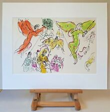 MARC CHAGALL Mourlot Farblithographie Anno 1965 : Mussorgsky & Mozart