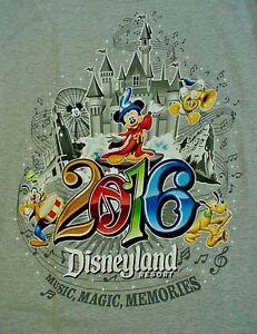 2016 Gray DISNEYLAND RESORT T-Shirt - Adult  5XL - NEW NWT
