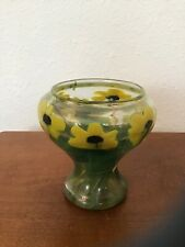 Antique Signed Louis C. Tiffany Favrile Paperweight Yellow Daffodil Vase Damaged