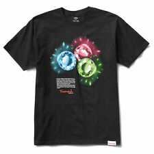 Diamond Supply Co. Hombre de Color Camiseta Manga Corta Negro Ropa Apparel
