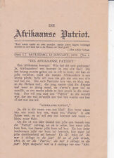 Die Afrikaanse Patriot 1876 Facsimile Old 16 pages Excellent Condition No Tears.