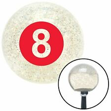 Red 8 Ball Clear Metal Flake Shift Knob with M16 x 1.5 Insert spyder chopper